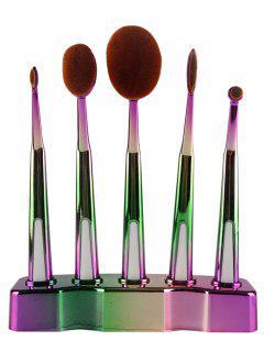 5 Pcs Toothbrush Shape Brushes Set - Green