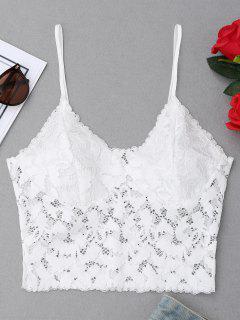 Cami Lace Bralette Top - White M