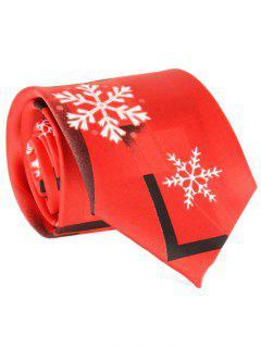 Flocon De Neige Et Cravate Géométrique - Rouge
