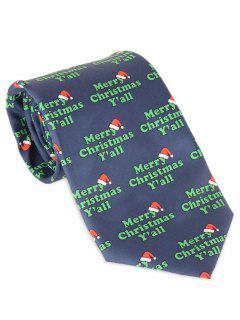 Merry Christmas Y'all Print Allover Tie - Blue