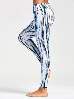 Ombre Printed Tight Leggings - Blanc 2xl