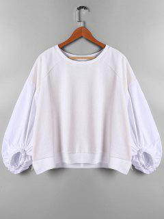 Drop Shoulder Lantern Sleeve Sweatshirt - Off-white S