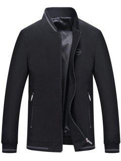 Veste Décontractée Logo Brodé Zippée - Noir M