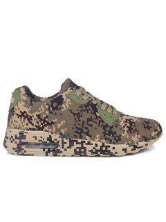 Breathable Camouflage Casual Shoes - Brown 40