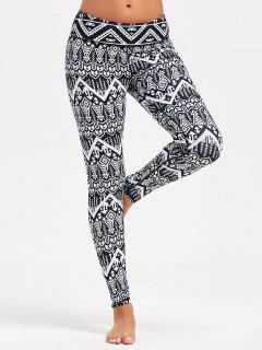 Arrows Printed Yoga Tights - Black S