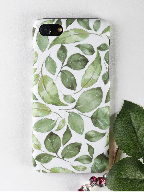 Étui pour téléphone Leaf Pattern pour Iphone - Vert POUR IPHONE 7 Mobile
