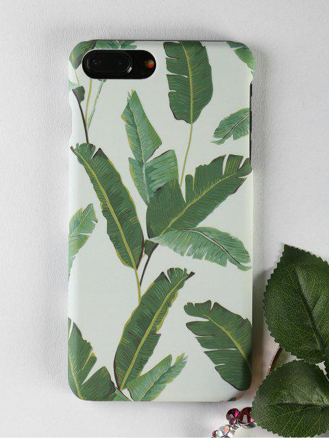 shop Palm Leaf Pattern Phone Case For Iphone - GREEN FOR IPHONE 7 PLUS Mobile