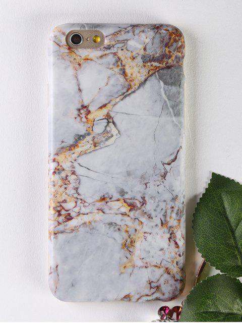 chic Marble Pattern Soft Phone Case For Iphone - GRAY FOR IPHONE 6 / 6S Mobile