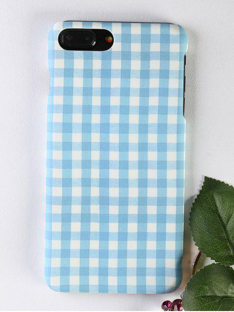 latest Plaid Pattern Phone Case For Iphone - LIGHT BLUE FOR IPHONE 7 PLUS Mobile