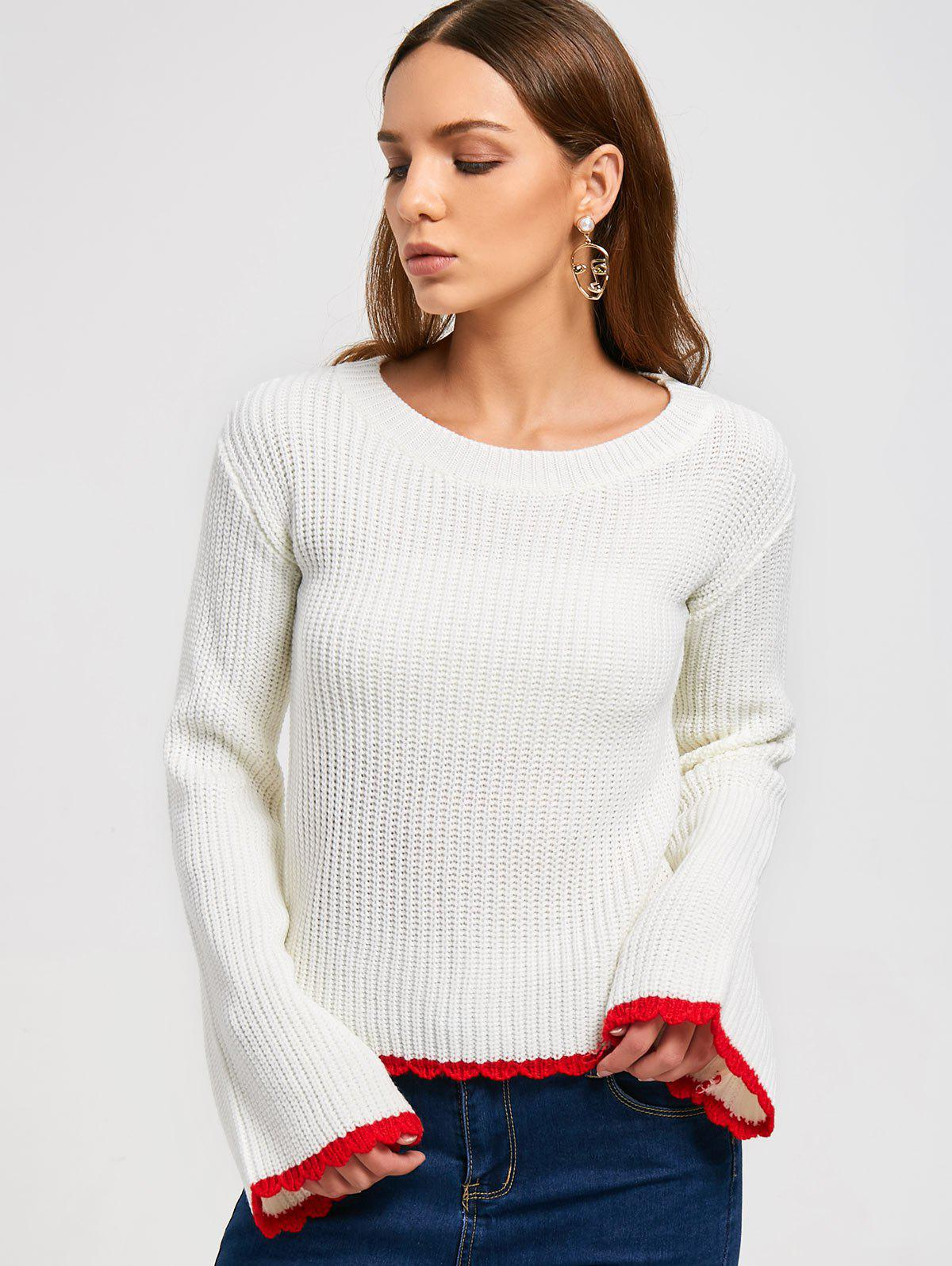 Two Tone Pullover Sweater 224928201