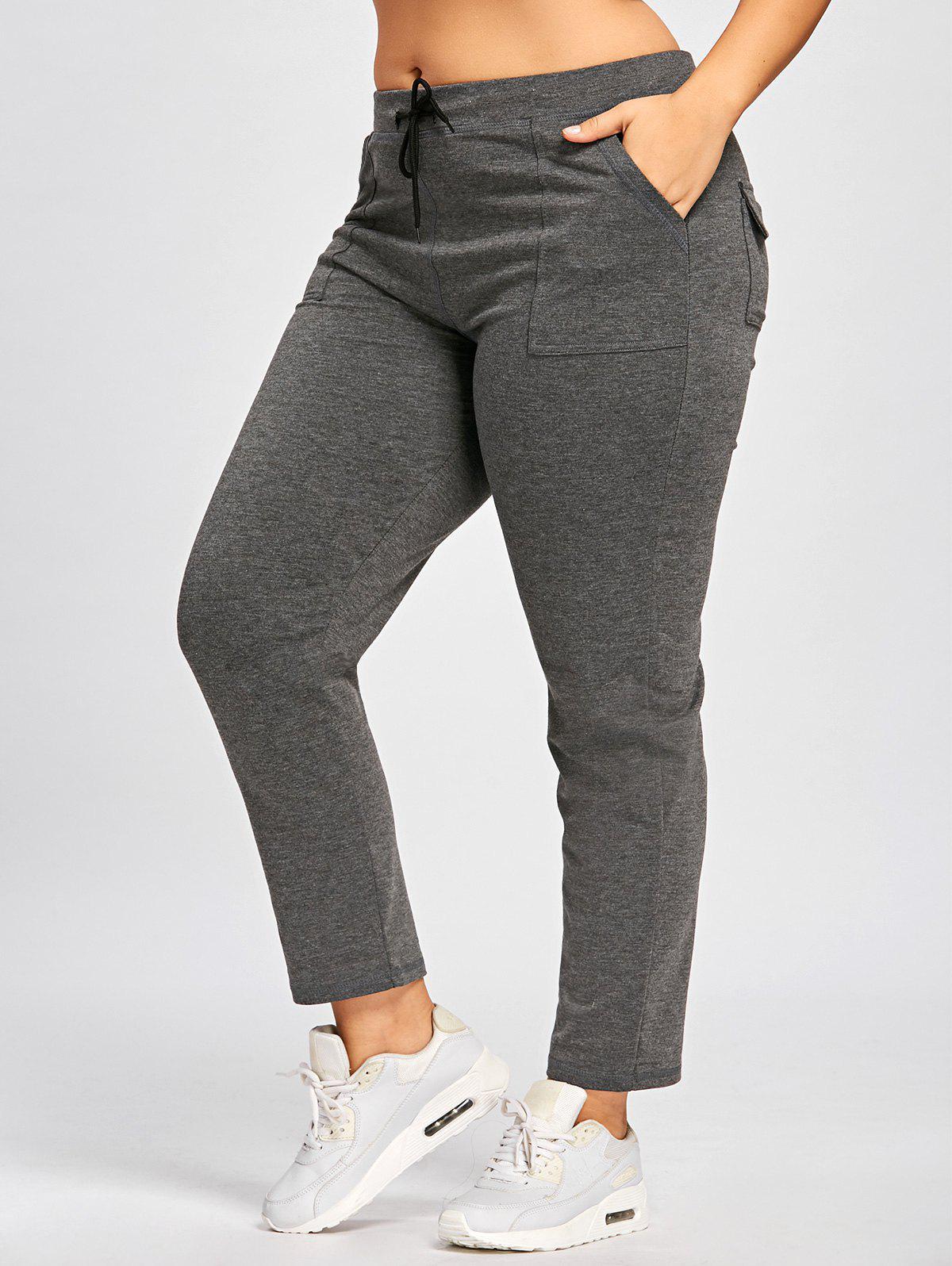 Pantalon décontracté taille grand