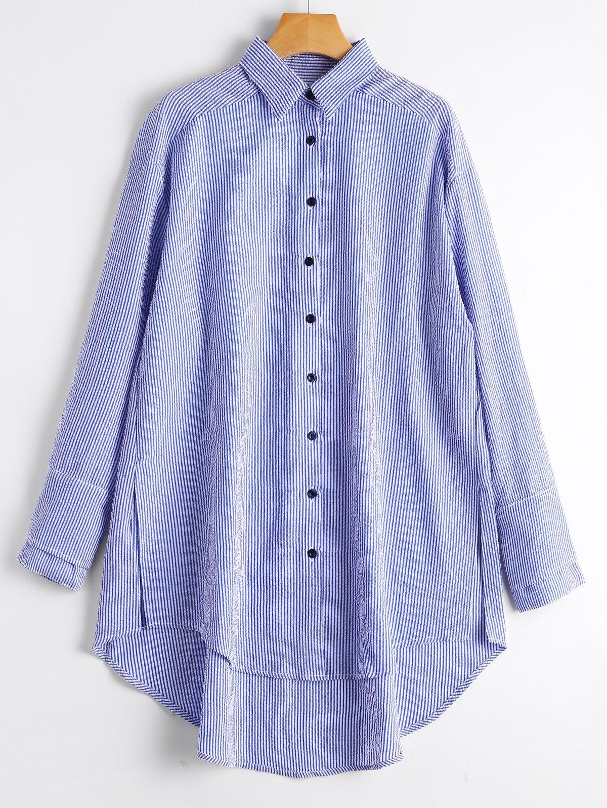 Sciolto Strisce Alto Basso Shirt