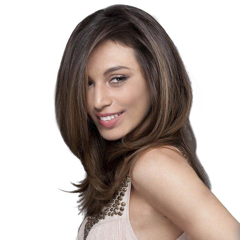 Medium Side Bang Fluffy Natural Straight Synthetic Wig 227211601