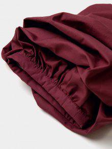 Xl Hombro Cintur Con Blusa Vino De 243;n Rojo UqU874v