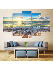 شاطئ البحر مشهد طباعة جدار الفن سبليت لوحات قماش -