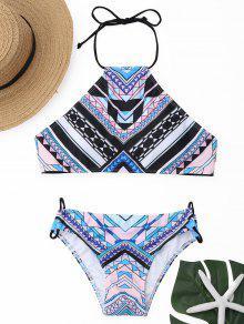 Ensemble De Bikini Haute Couture Géométrique - S