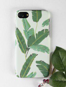 Caso Del Teléfono Del Patrón De La Hoja De Palma Para Iphone - Verde Por Iphone 7