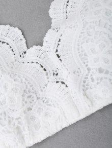 fcc5e8b5bc06b2 22% OFF  2019 Criss Cross Crochet Lace Bralette Top In WHITE