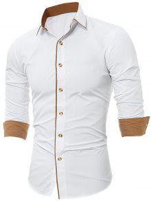 طوق طوق كتلة متفوقا قميص متفوقا - أبيض Xl