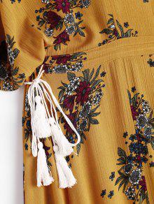 Pierna A Vestido Murci Floral Media Corte qFCww8xEd
