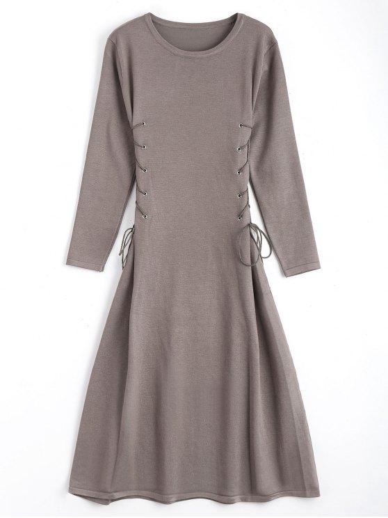 Vestidos de manga comprida com manga comprida - Esmagamento Um Tamanho