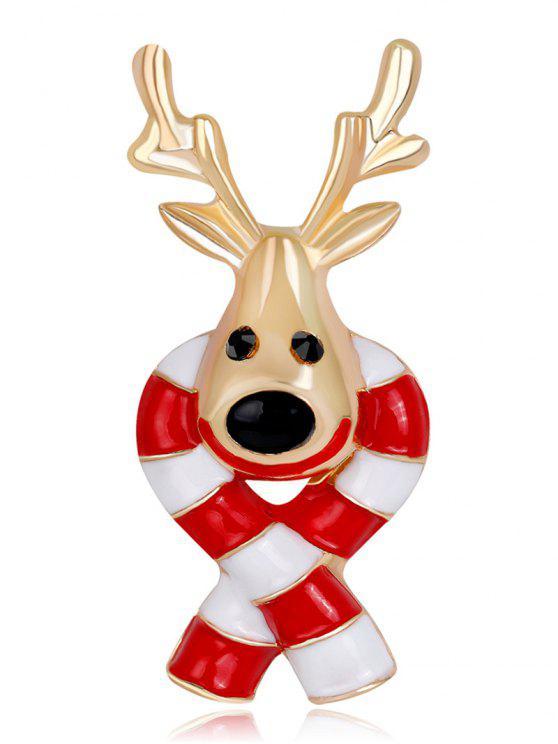 Weihnachten Zuckerstange Elch Kleine Brosche - Rot