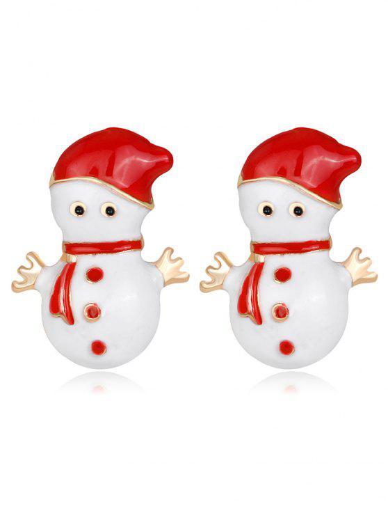 outfits Snowmen Shape Earrings - RED