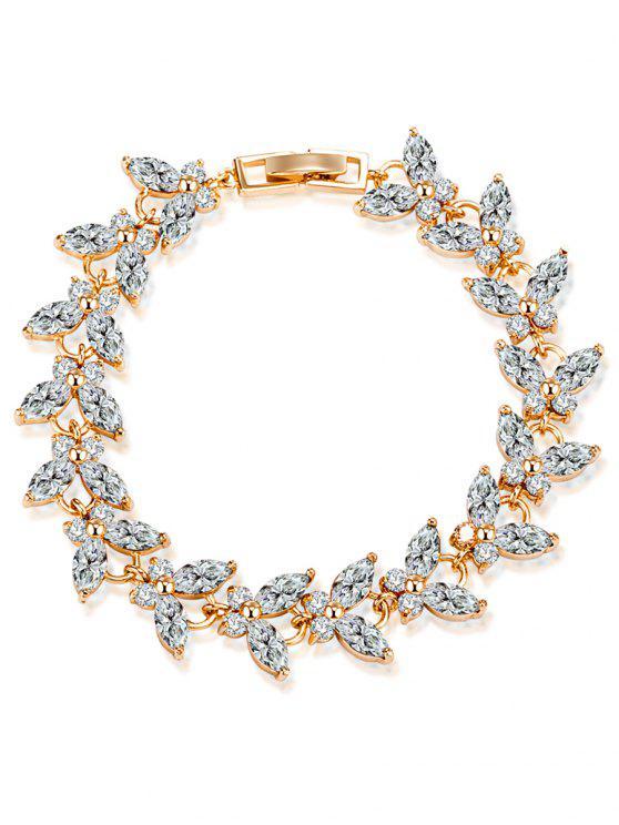 Schmetterling Faux-Edelstein verziertes Armband - Weiß