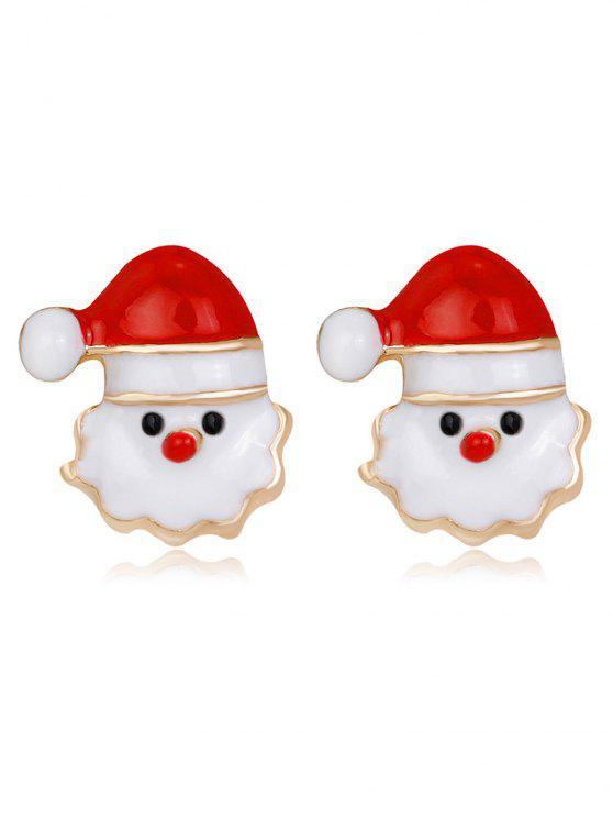 Orecchini Piccoli Di Natale Di Natale - Rosso