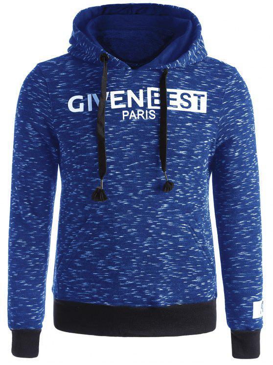 shops Space Dye Graphic Fleece Hoodie - LIGHT BLUE L