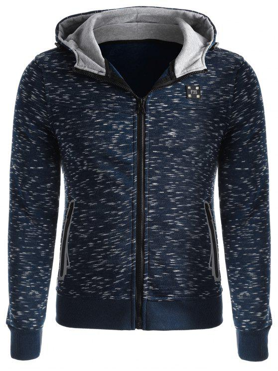 sale Space-dye Zip Up Fleece Hoodie - DEEP BLUE L