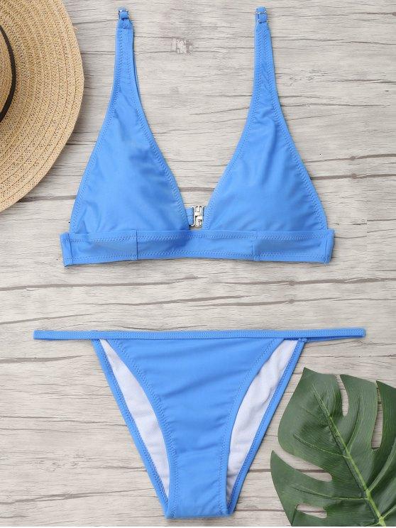 Bikini Perizoma Con Scollo Profondo - luce azzurro L