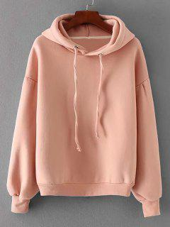 Casual Oversized Padded Hoodie - Pink L