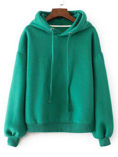Casual Oversized Padded Hoodie - Green L