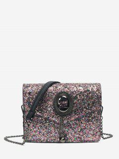 Chain Sequin Crossbody Bag - Pink