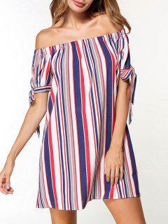 Off The Shoulder Striped Dress - 2xl