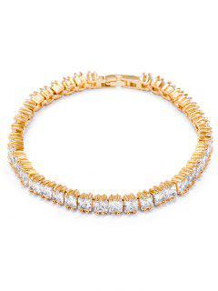 Vintage Rhinestone Embellished Charm Bracelet - White