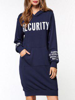 Robe à Manches Courtes Pour Pocket Security - Bleu Foncé M