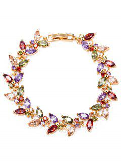 Butterfly Faux Gemstone Embellished Charm Bracelet
