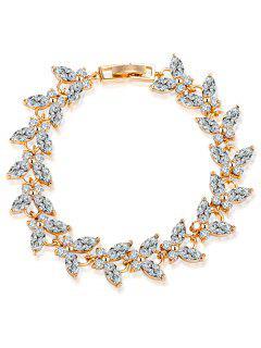 Bracelet En émeraude En Ormeil - Blanc