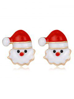 Christmas Santa Stud Tiny Earrings - Red