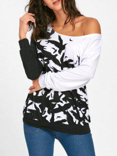 Monochrome Skew Collar Sweatshirt - White 2xl
