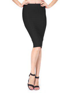 High Waist Bandage Skirt - Black L