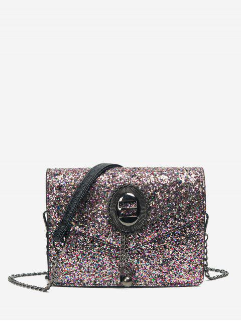 outfit Chain Sequin Crossbody Bag - PINK  Mobile