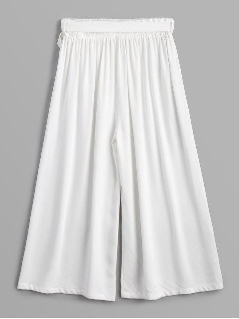 Pantalones largos con cinturón Capri - Blanco Talla única Mobile