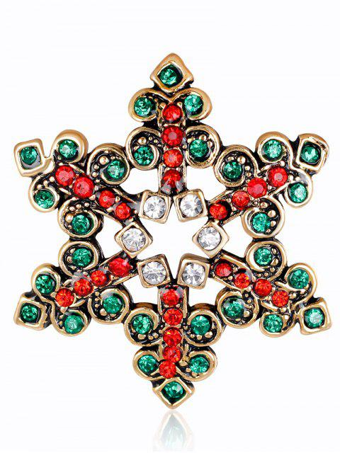 chic Hollow Out Rhinestone Snowflake Brooch -   Mobile