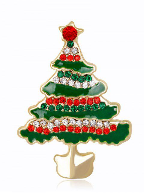 Broche Rhinestone Christmas Tree - GREEN  Mobile