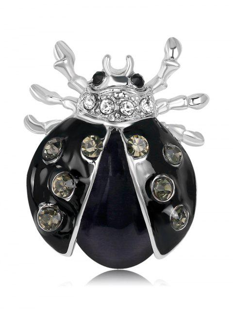new Rhinestone Halloween Insect Brooch - BLACK  Mobile