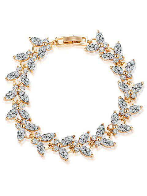 Schmetterling Faux-Edelstein verziertes Armband - Weiß  Mobile