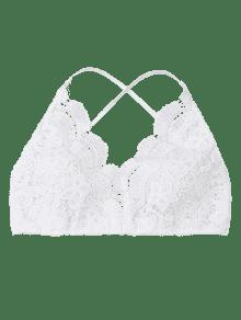 22% OFF  2019 Criss Cross Crochet Lace Bralette Top In WHITE M  7a916d4fa